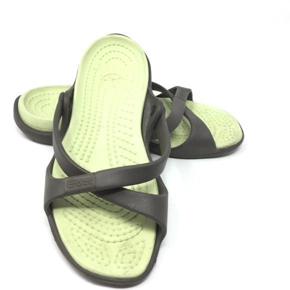 4b501bb99 crocs Shoes - Crocs Adara Two Tone Criss Cross Strapy Sandal 7